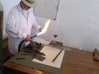 oblikovalec stekla na odprtem ognju Zvone Drobnič